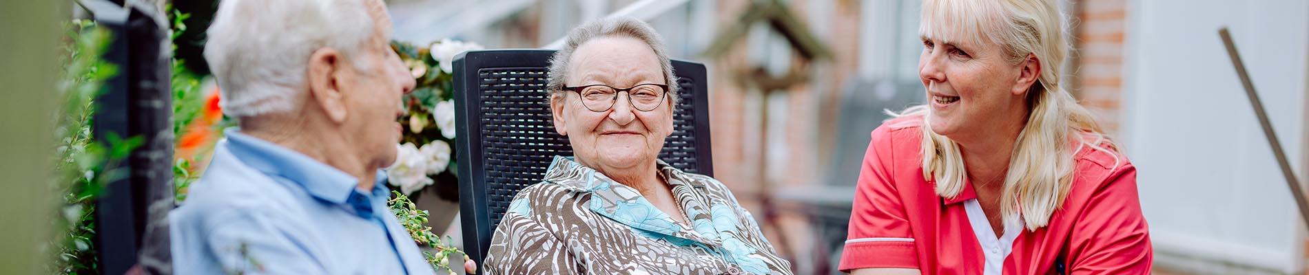 Thuiszorg bij een bejaard echtbaar via Liante